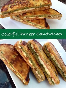 Colorful Paneer Sandwiches
