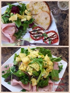 Green, Eggs & Ham….a warm omelette ribbon salad!