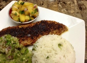 Blackened Fish with Tomatillo Salsa