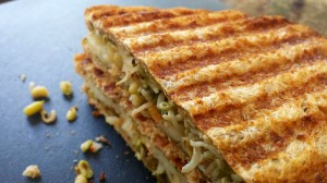 Grilled Sprouts Sandwich…. Bombay Style!