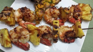Thai Pineapple Shrimp Skewers