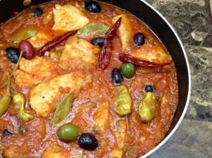 Moroccan Fish Curry with Olives