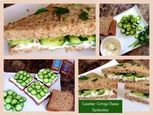 Cucumber Cottage Cheese Sandwiches