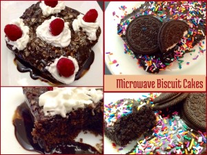 Microwave Biscuit Cakes…. A Kid's Special!