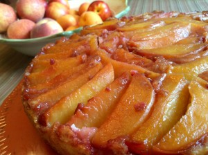Low Fat Peach Upside-Down Cake