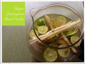 Ginger Lemongrass Basil Cooler