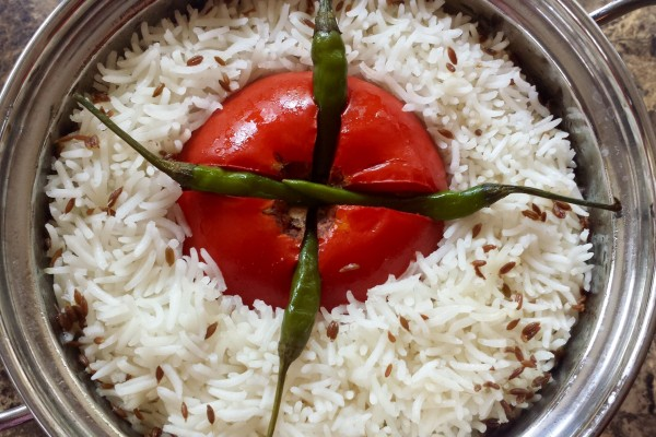 The Simplest Tomato Rice!