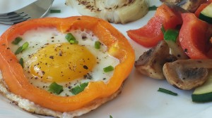 Fried Egg in bell pepper!