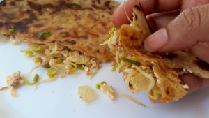 Sprouted Methi Paneer Parantha