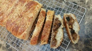 Stuffed Apple Raisin Bread